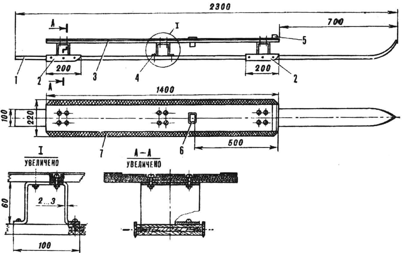 Fig. 1. Sailing ski