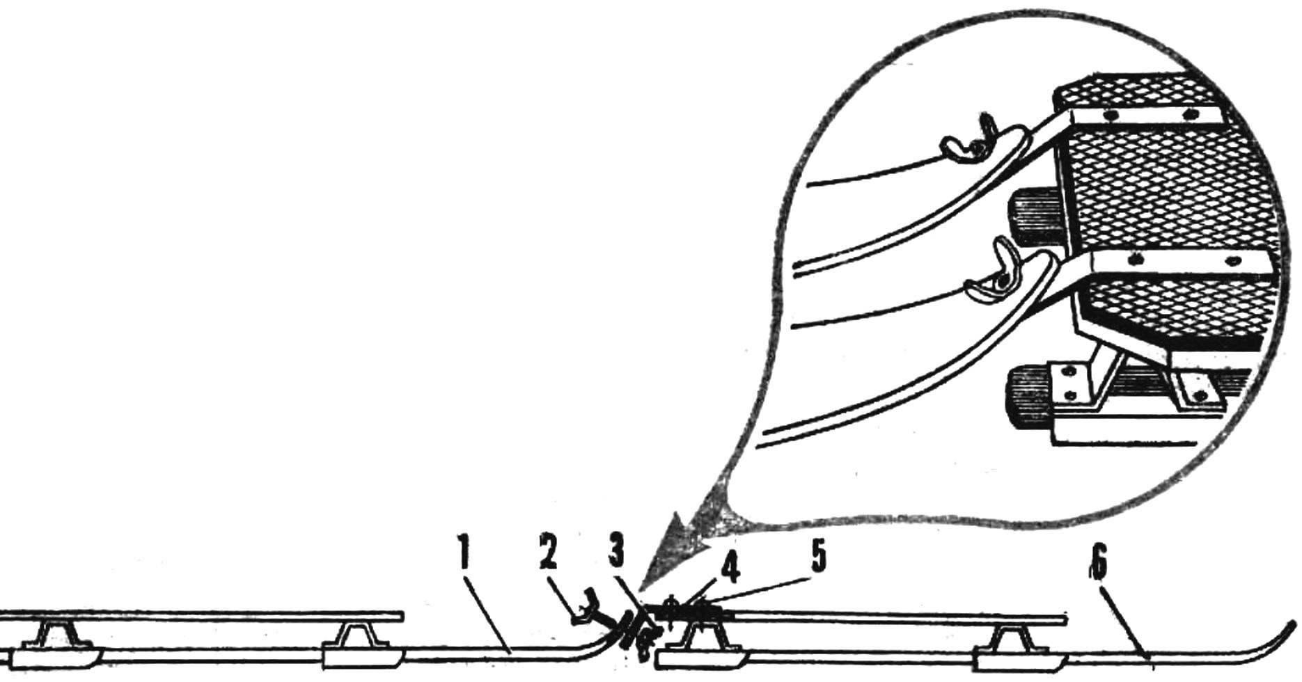Рис. 4. Соединение секций тандема