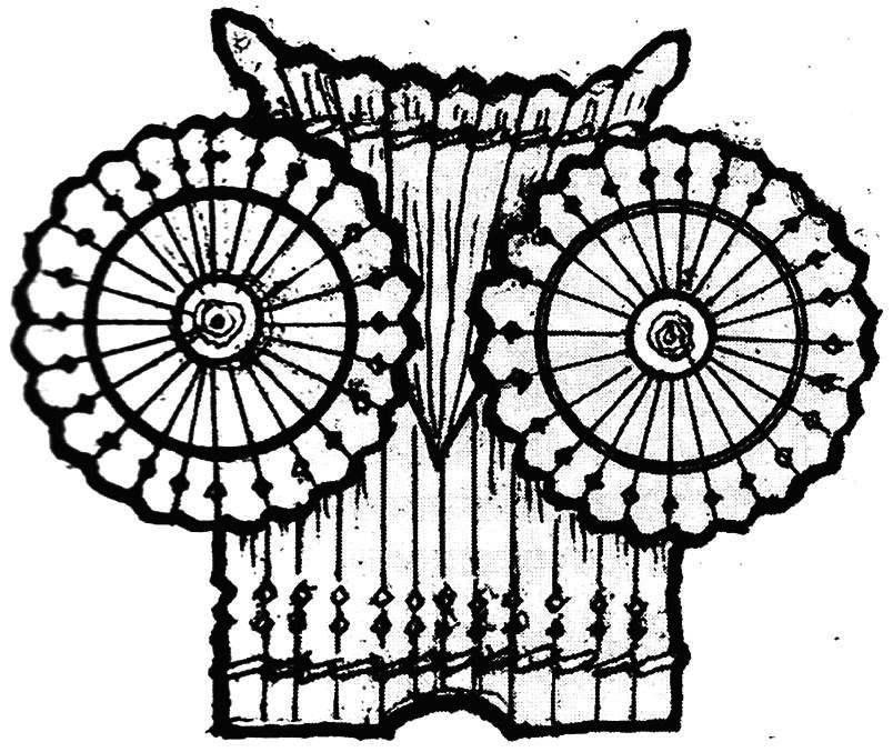 Рис. 1. Панно из лучины «Филин»