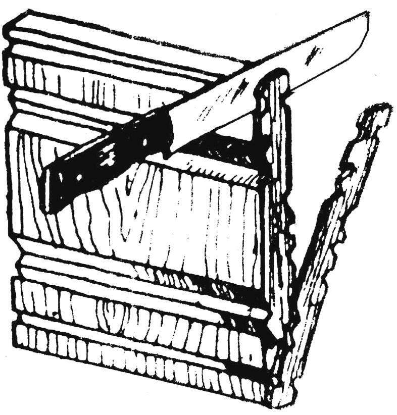 Рис. 4. Получение фигурных полосок благодаря прорезанным на заготовке желобкам