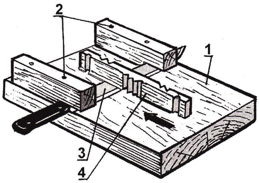 Рис. 6. Приспособление для массового расщепления заготовки