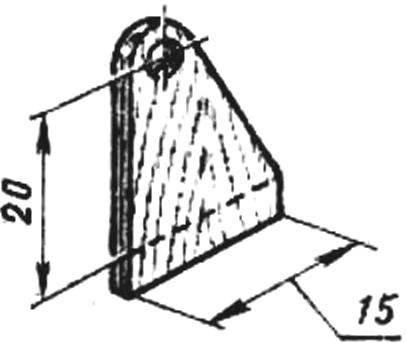 Кабанчик руля высоты (фанера S2 мм).