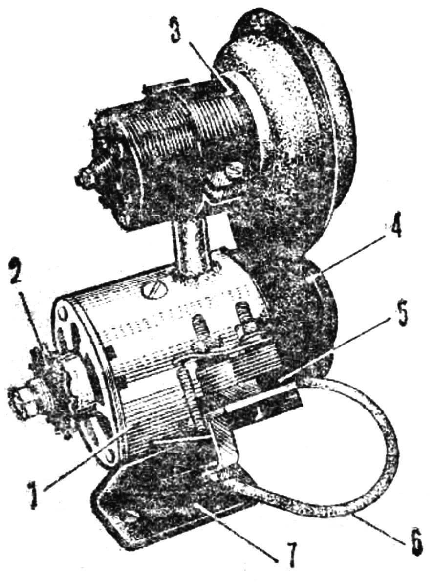Fig. 4. The layout of the elektroagregat