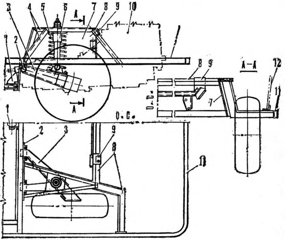 Схема подвески силового