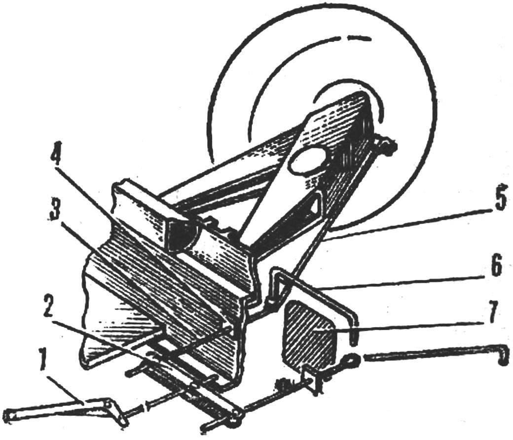 Рис. 3. Привод ручного тормоза