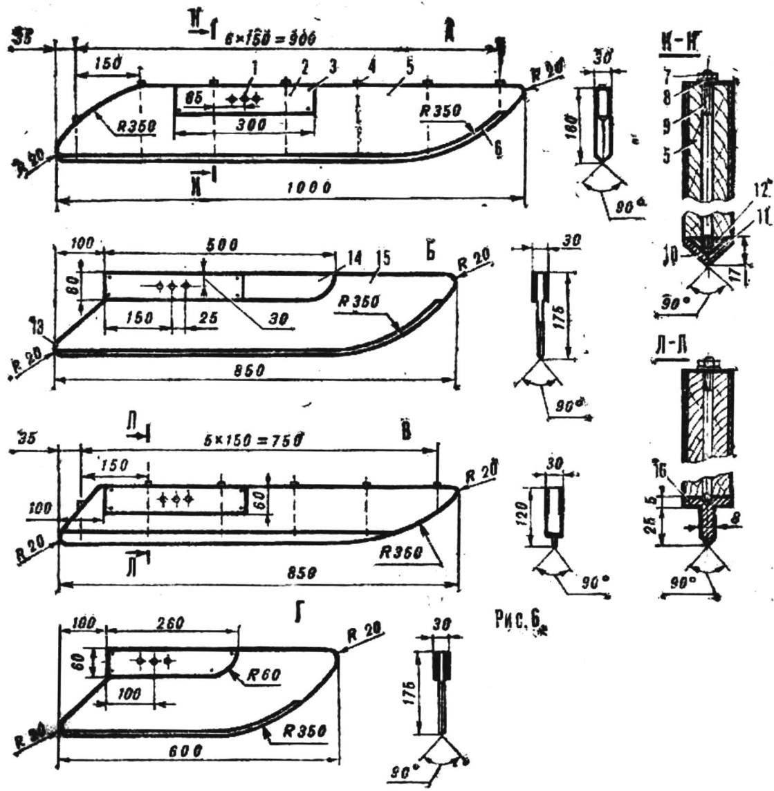 Fig. 6. Skates ice boats