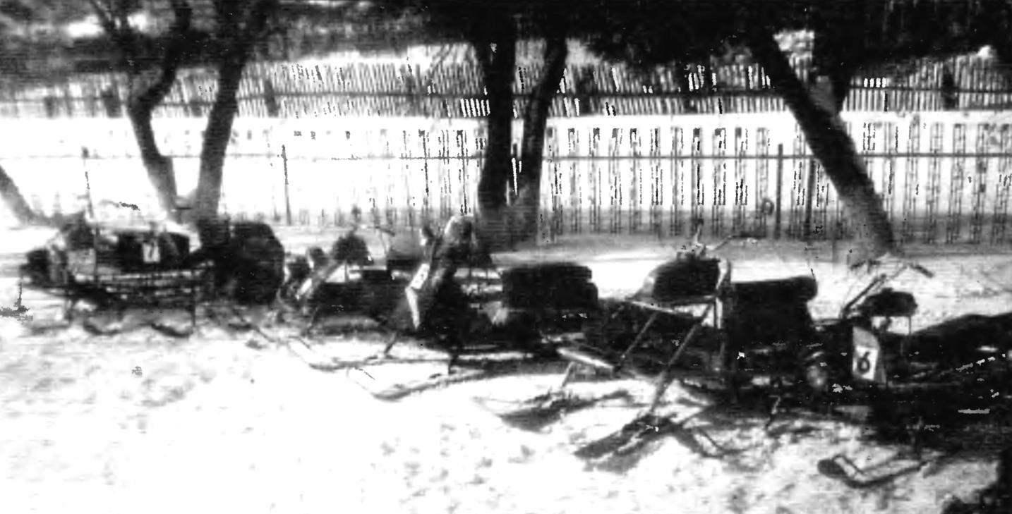 Снегоход-палочник «Топтыгин» с двигателем ИЖ-П3