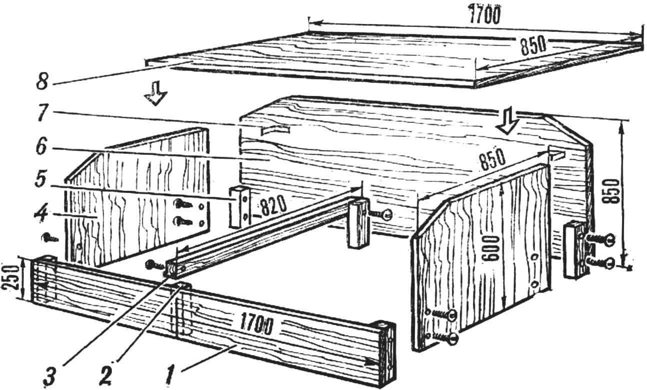 Рис. 1. Схема дивана