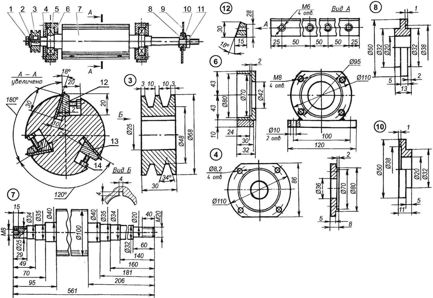 Ротор фуганка и дисковой пилы