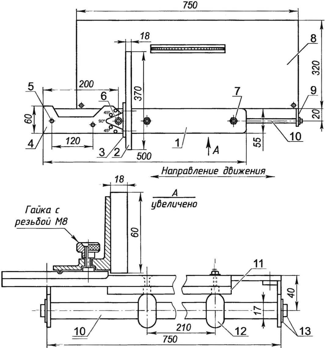 Механизм для торцевания заготовок