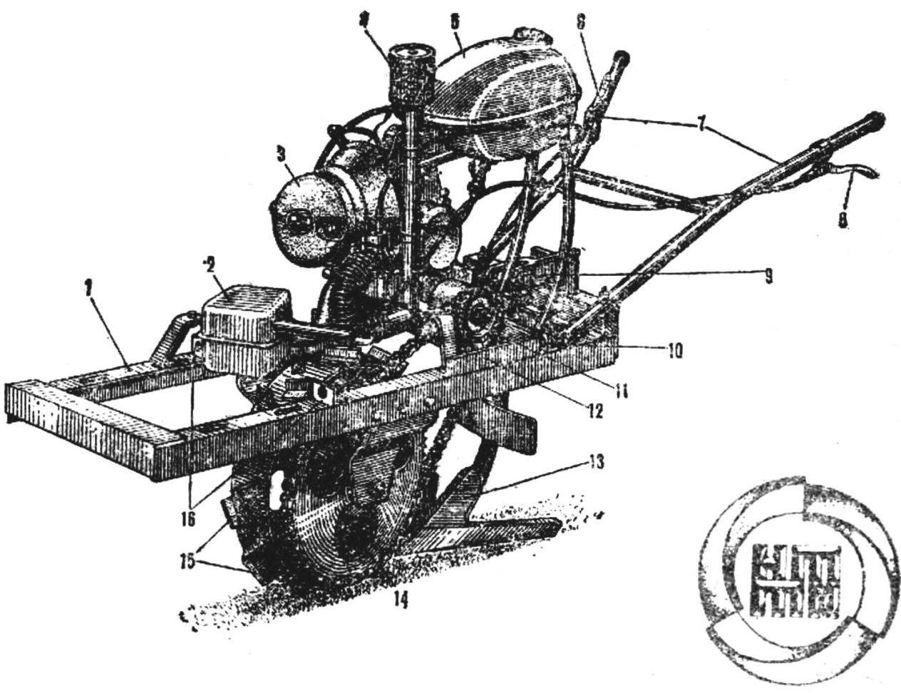 Fig. 1. Self-propelled plow-cultivator