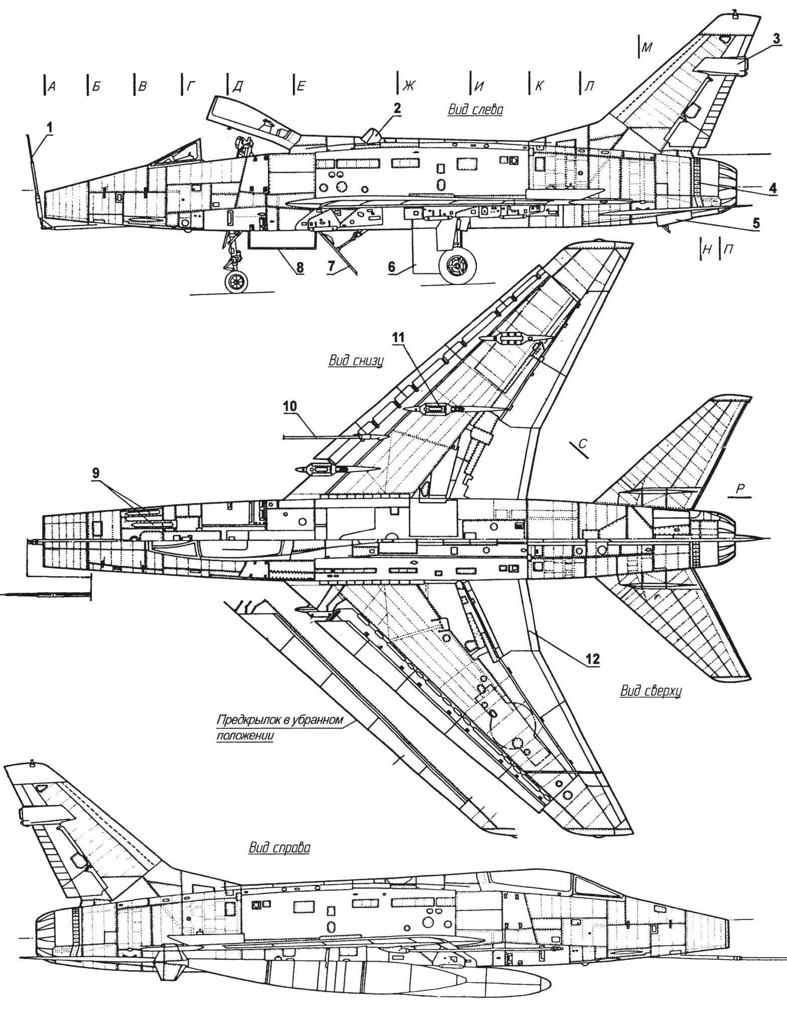 Fighter-bomber F-100D Super Sabre
