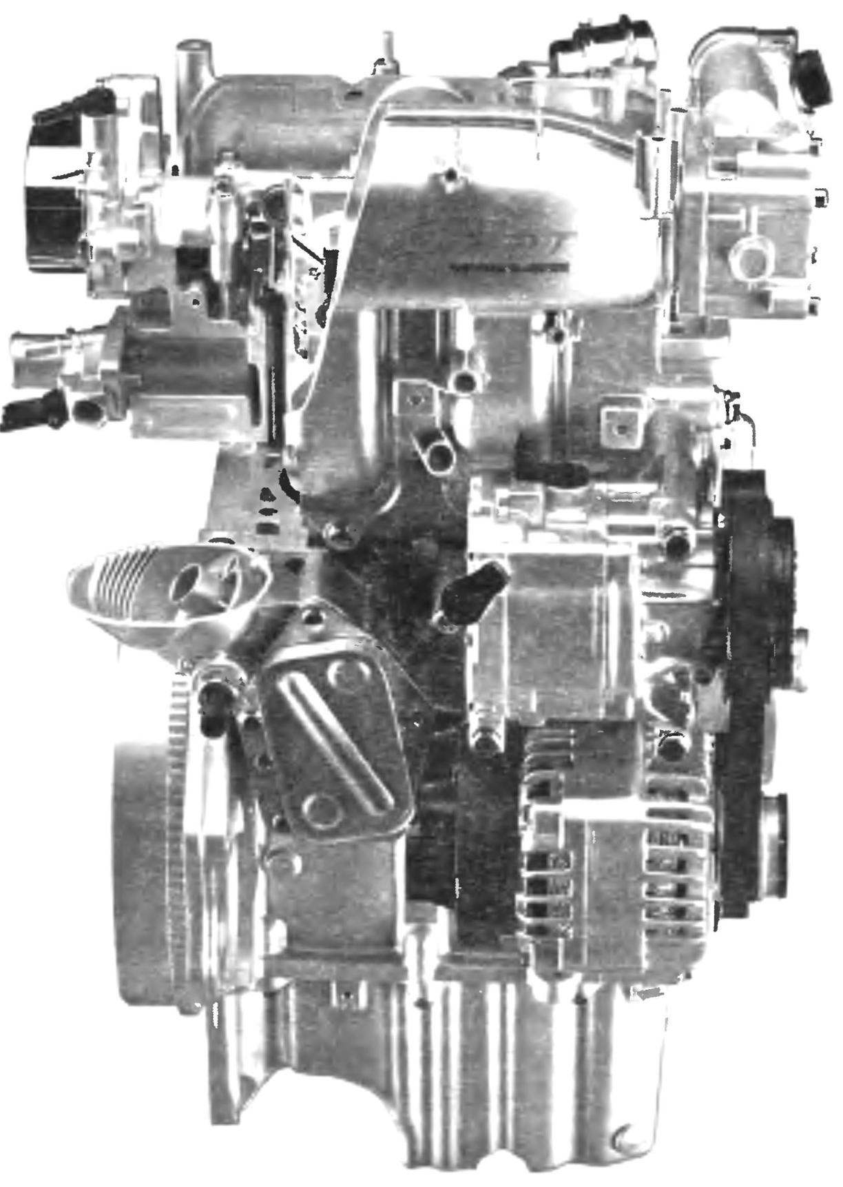 The engine of FIAT-500