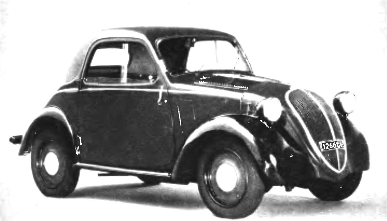 Патриарх «пятисотых» — «народный автомобиль» FIАТ-500 Тороlinо выпуска 1936 года
