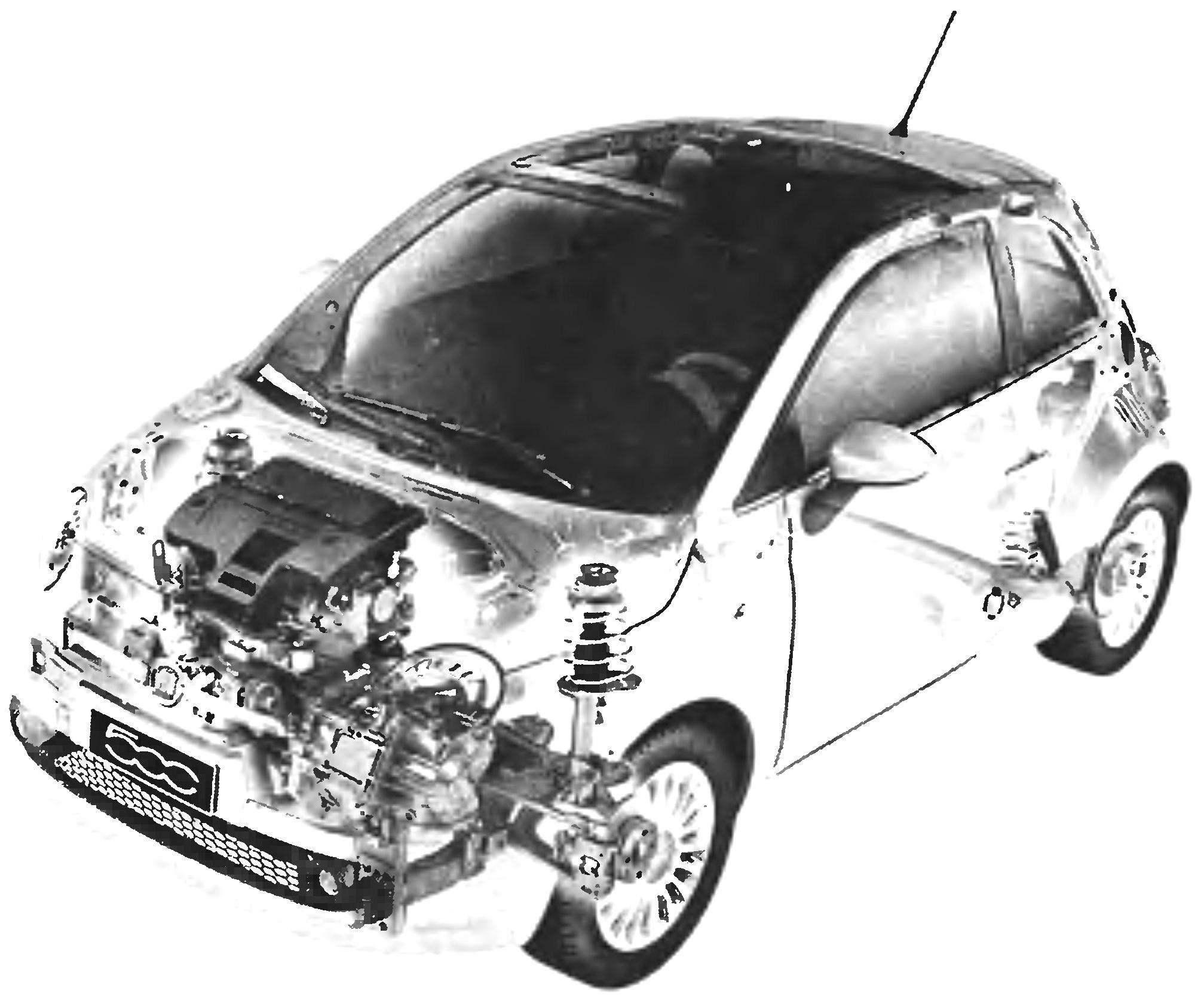 «Пятисотый» третьего поколения — FIAT-500 выпуска 2007 года и его компоновка