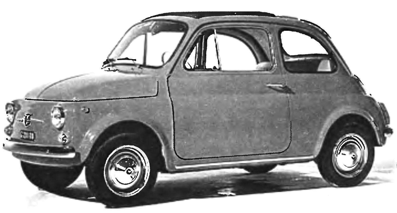 Компоновка FIAT-500 второго поколения