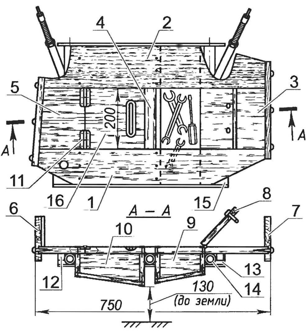 Площадка бокового прицепа (все детали изготовлены из доски s25)