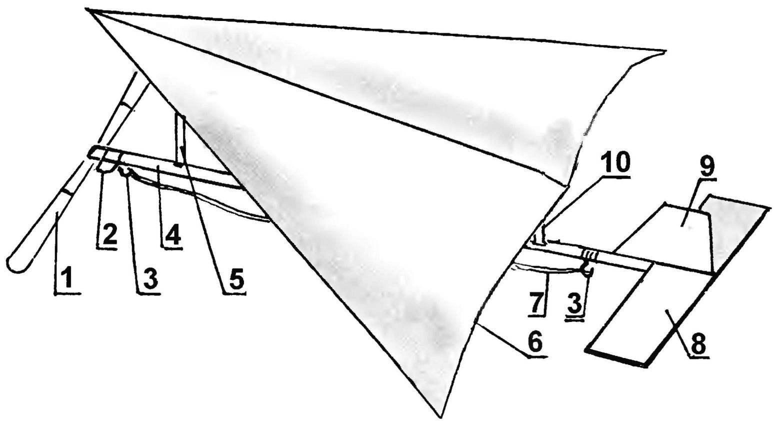 Рис. 1. Мотодельтаплан