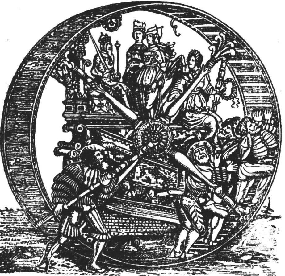 «Самокатящаяся» чудо-колесница императора Максимилиана I (1459 г.).