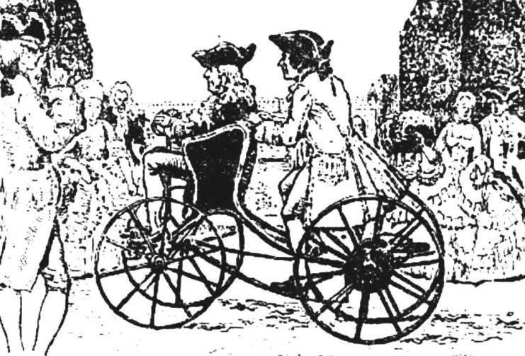 Мускульная повозка англичанина Джона Бевера (XVIII в.).