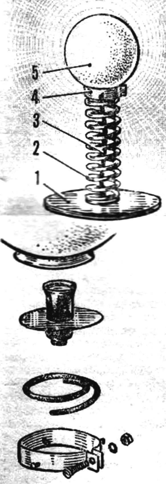 Лампа на пружине