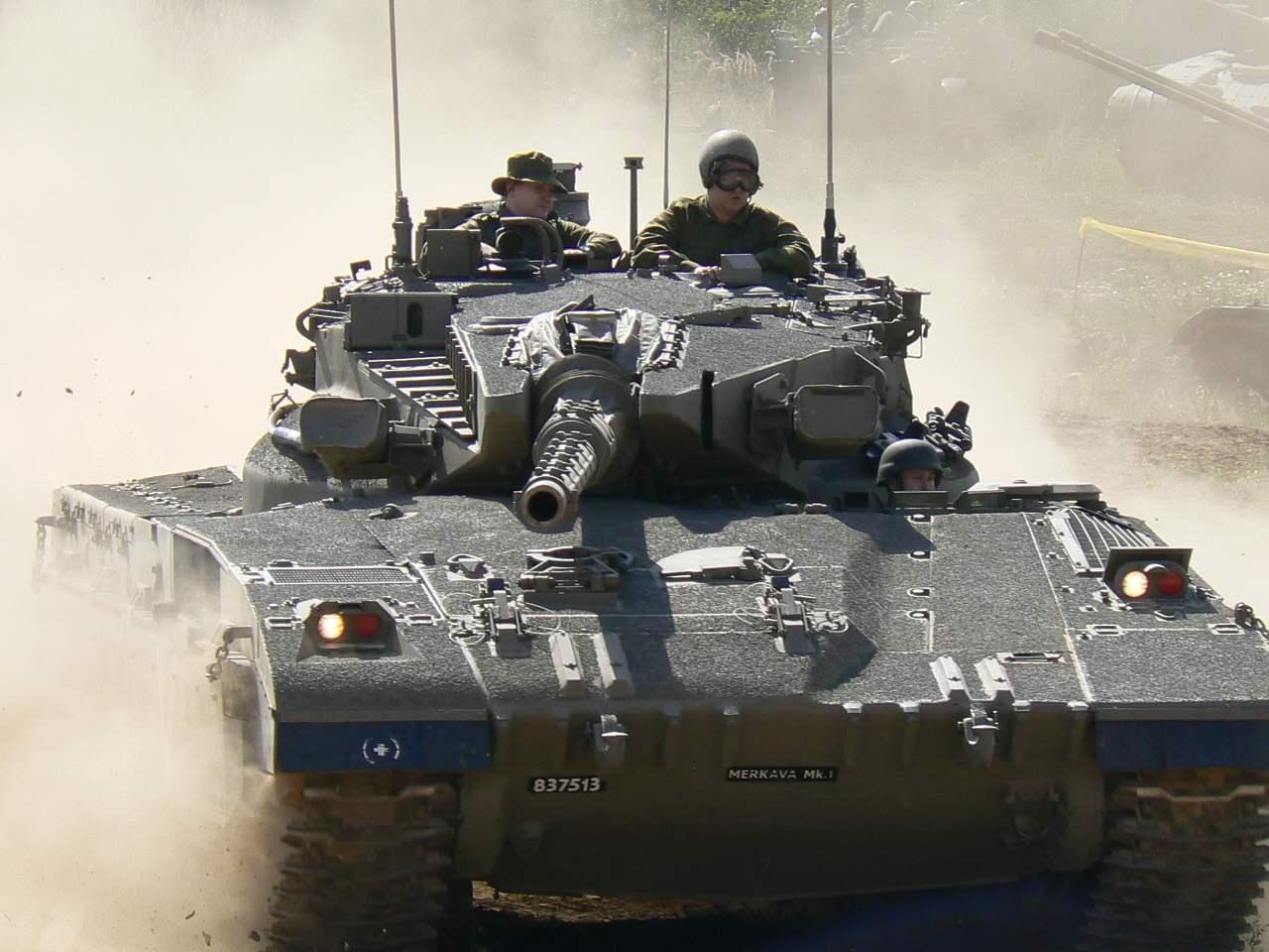 MERKAVA TANK OF THE ISRAELI ARMY