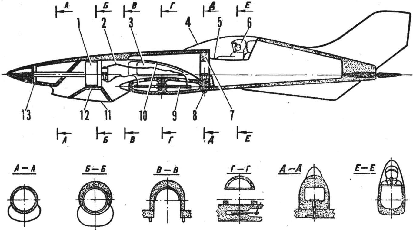 Fig. 2. The design of the fuselage