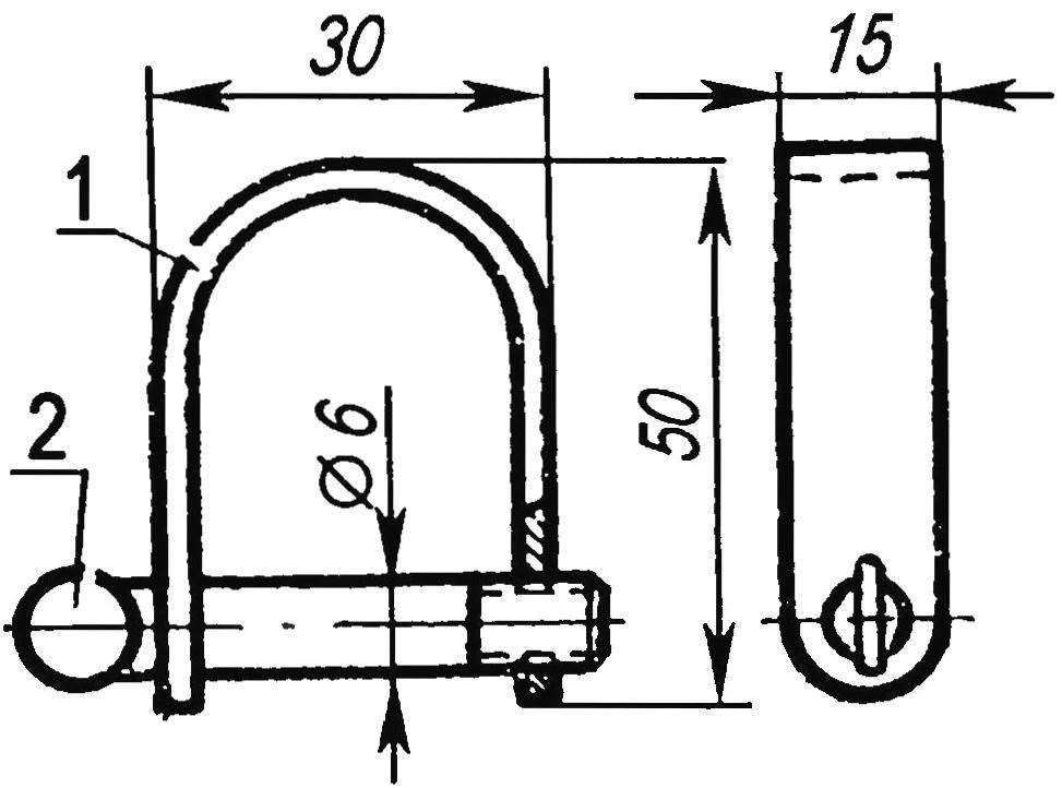 Такелажная скоба упрощённой конструкции