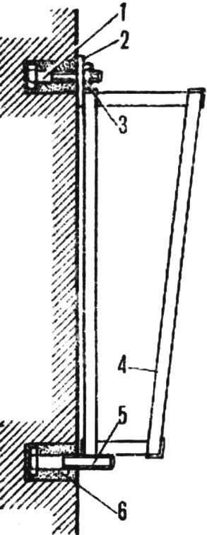 Схема подвески настенного аквариума