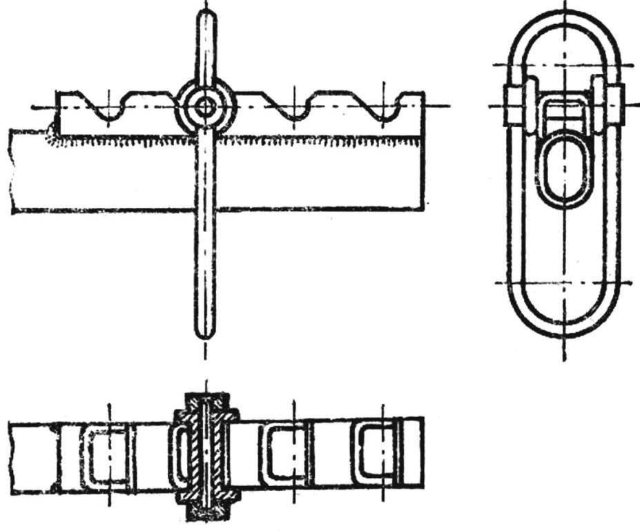 Рис. 3. Схема гребенки и стремени.