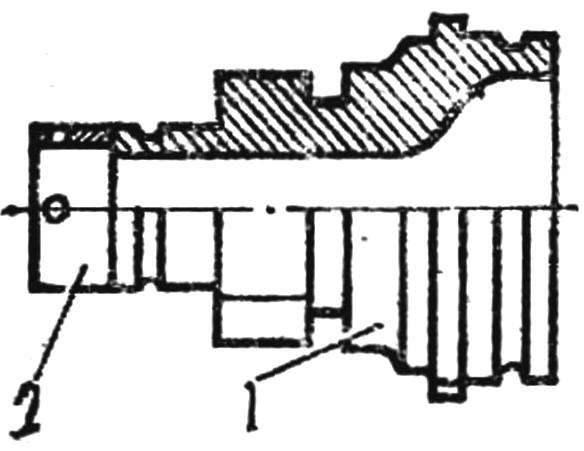 Рис. 6. Доработка конуса втулки