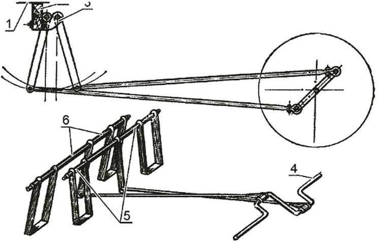 Рис. 4. Конструкция педального механизма