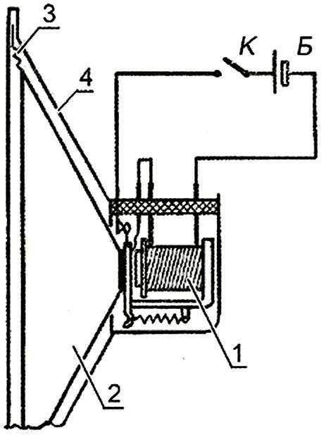 Рис. 6. Устройство и схема включения звукового сигнала