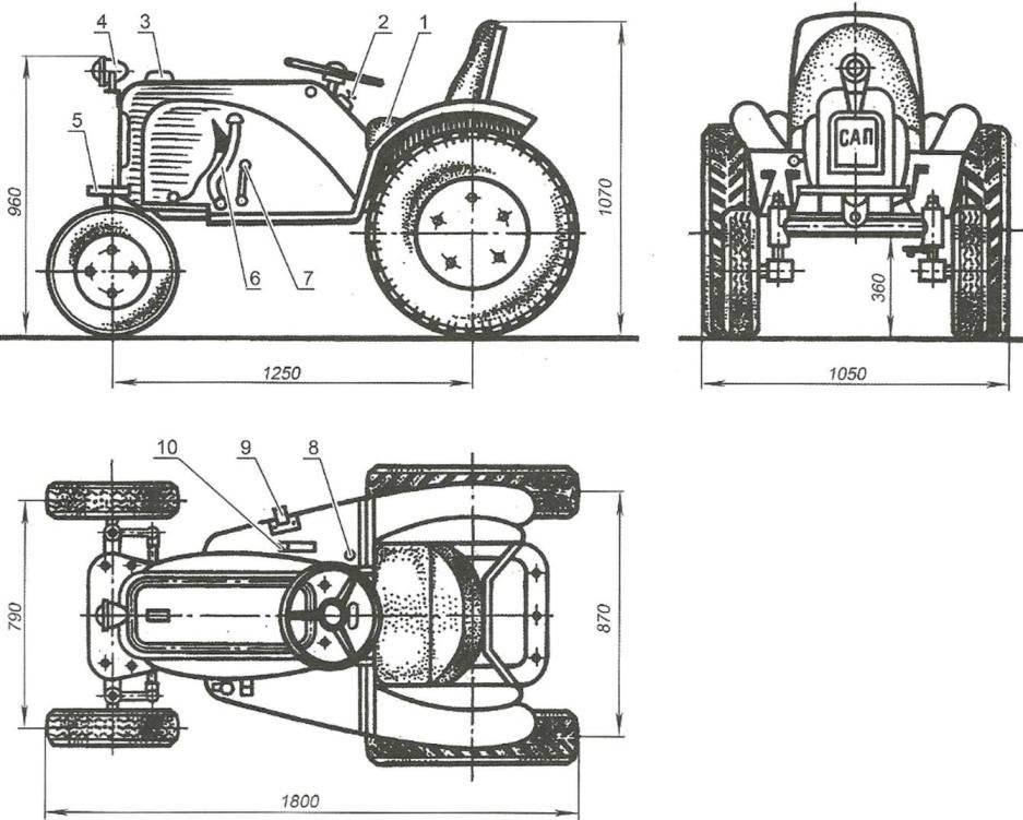 Микротрактор «САП»