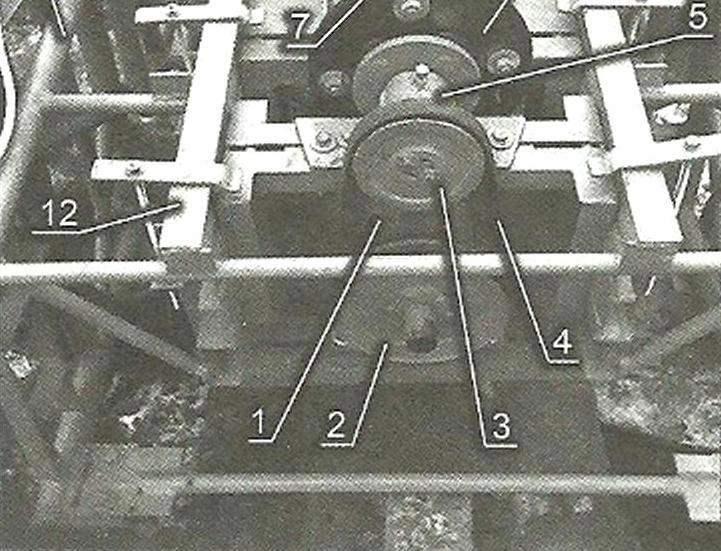 Привод бетоносмесителя (вид сзади)