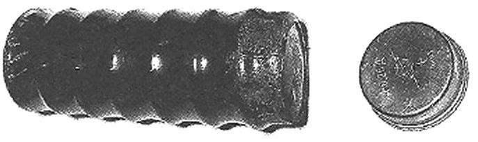 Линейка дисковых аккумуляторов тина Д-0,26Д, собранных в «пальчиковый» элемент