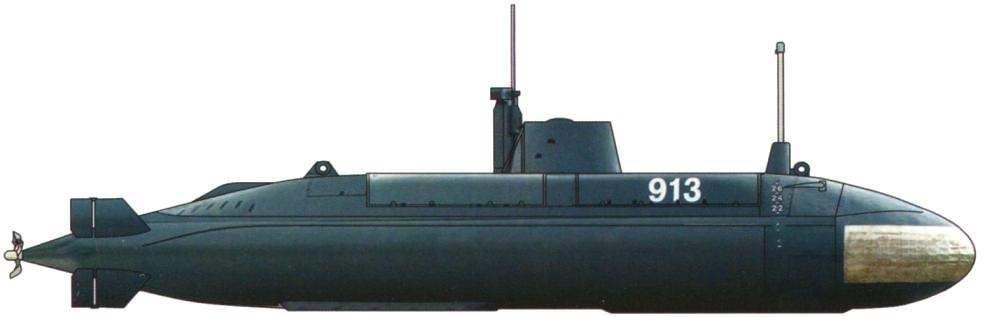 Подводная лодка Zeta (M-100D), Югославия, 1985 г.