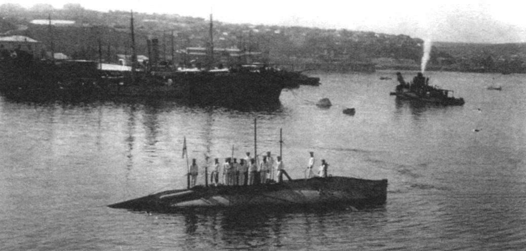 Подводная лодка «Лосось», Севастополь, 1912 г.