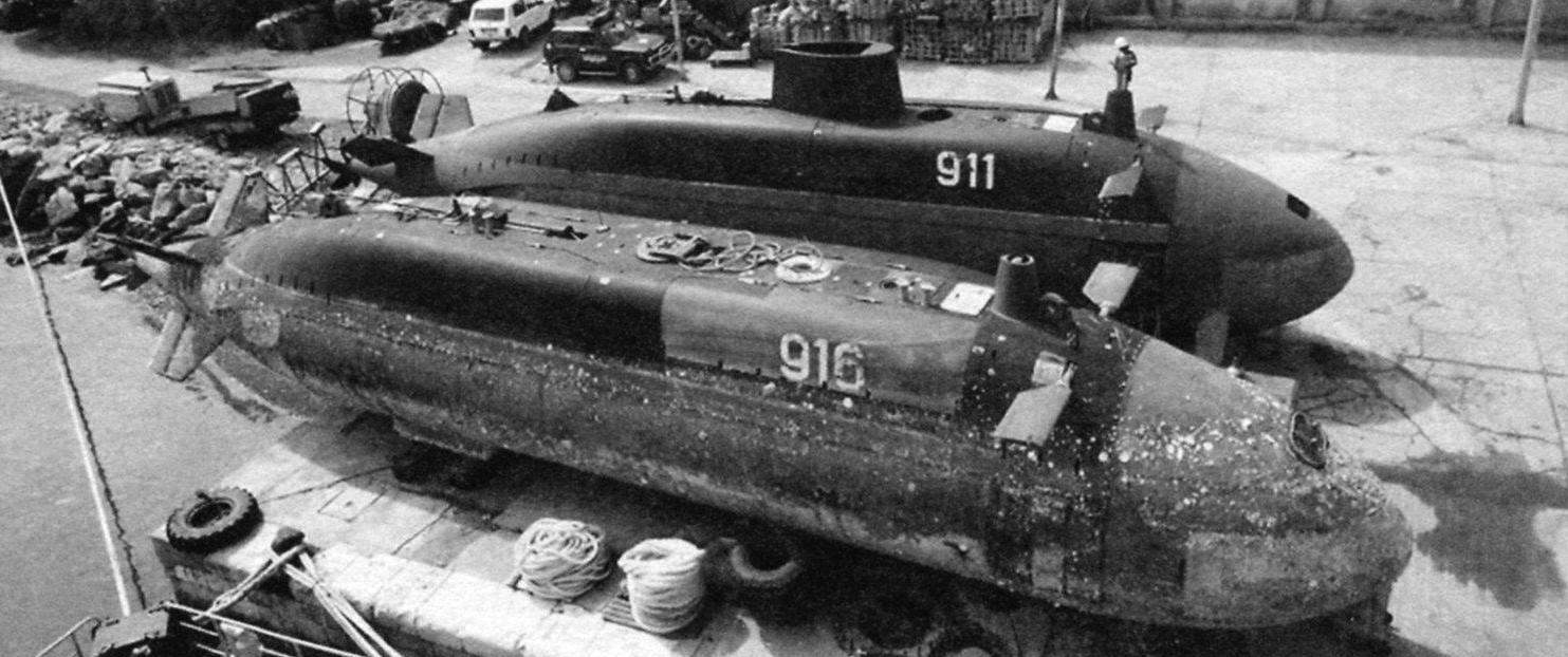 Boats R-911 Tisa and P-916 on the shore of Vrbas in the process of painting