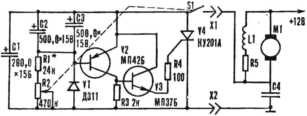 Fig. 3. Diagram of the device control intermittent windshield wiper.