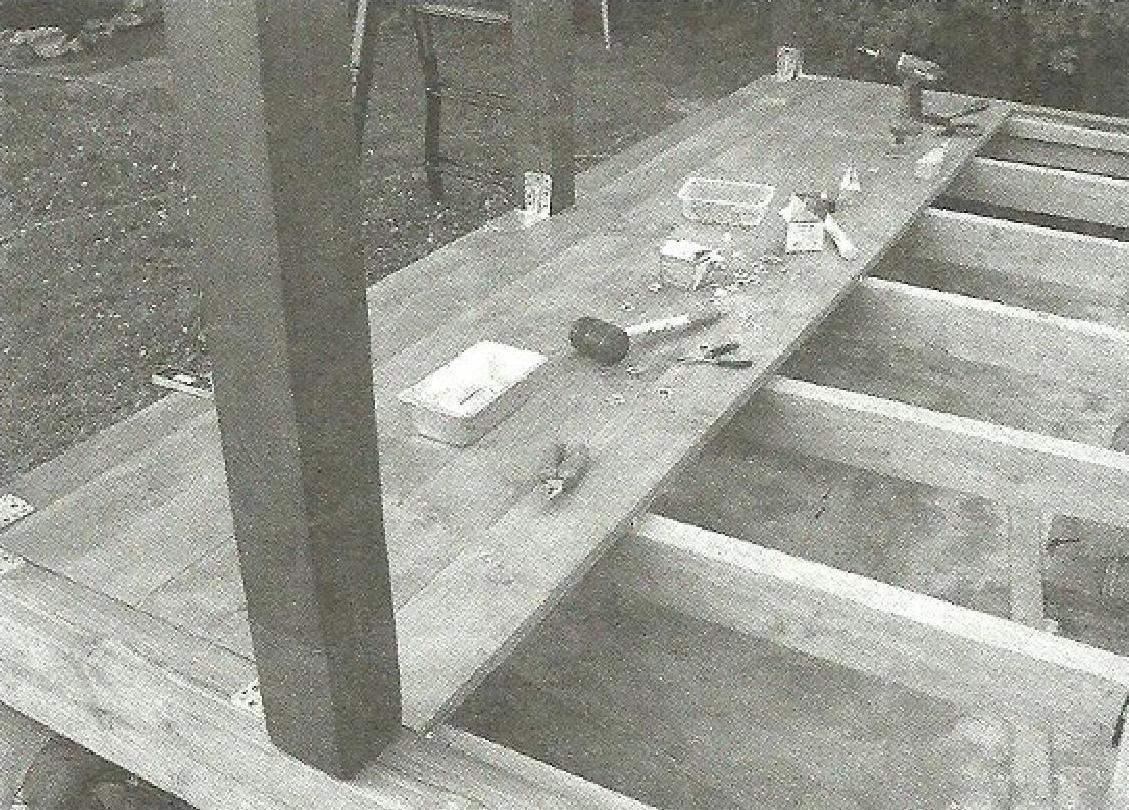 Настилка пола из доски-«тридцатки» шириной 140 мм
