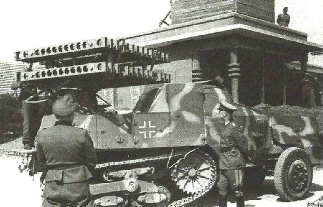 80-мм самоходная пусковая установка R-V S303(f) на базе полугусеничного бронеавтомобиля SOMUA MCL