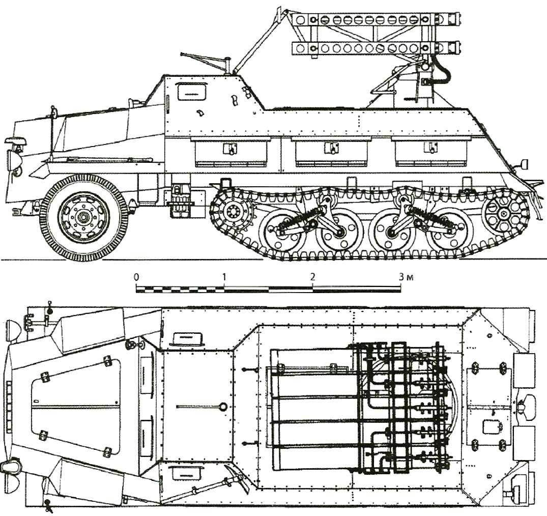 15 cm Panzerwerfer 42 auf Sf with rail guides