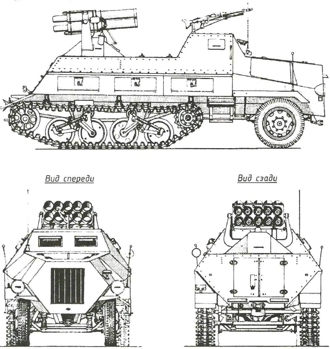 15 cm Panzerwerfer 42 auf Sf с трубчатыми направляющими