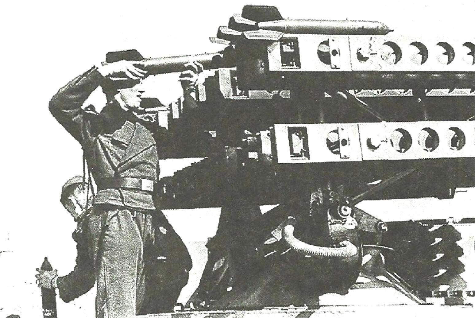 Ракеты 8 cm R.Spreug — аналоги советского реактивного снаряда М-8