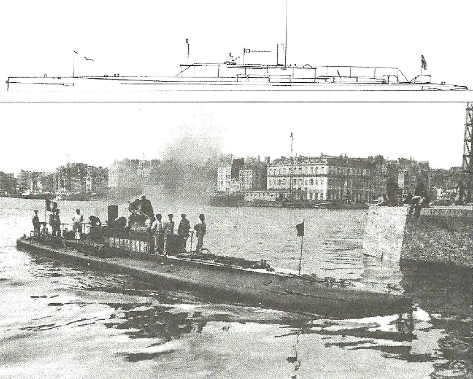 Подводная лодка «Сирена» М. Лобёфа, Франция, 1901 г.
