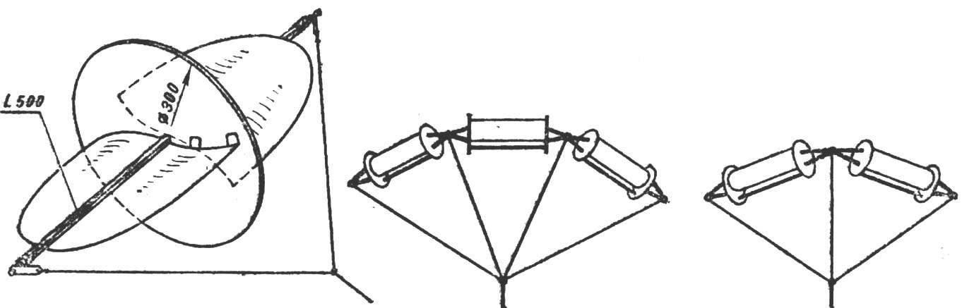 Рис. 2. Змей-вертушка упрощенной конструкции.