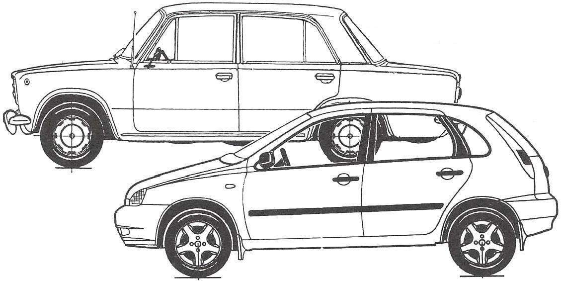 По своим габаритам кузов LADA KALINA практически не отличается от «классического», однако размеры «жигулёвского» салона существенно меньше
