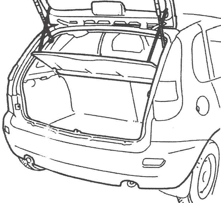 Пятая дверь автомобиля открывает доступ в багажное отделение. Со сложенными задними сиденьями вместимость его существенно возрастает
