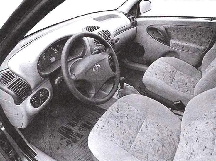 Передняя часть салона автомобиля